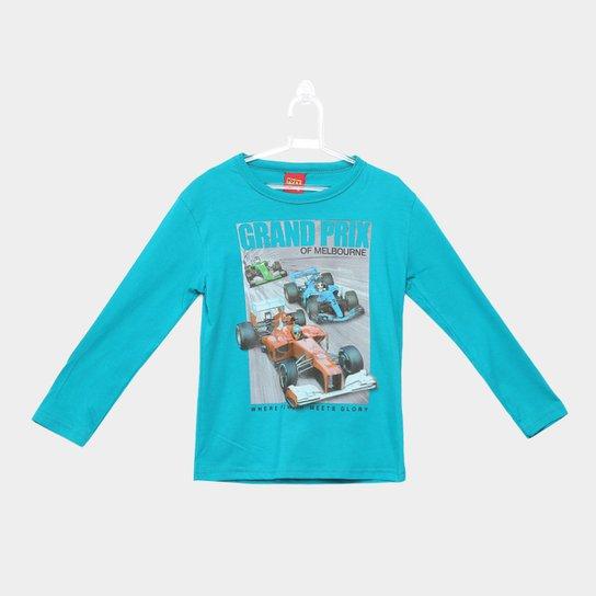 635083fae Camiseta Manga Longa Infantil Kyly Carros Masculina - Verde - Compre ...