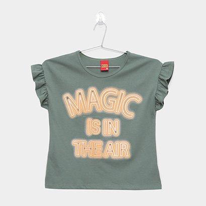 Blusa Infantil Kyly Magic Babado