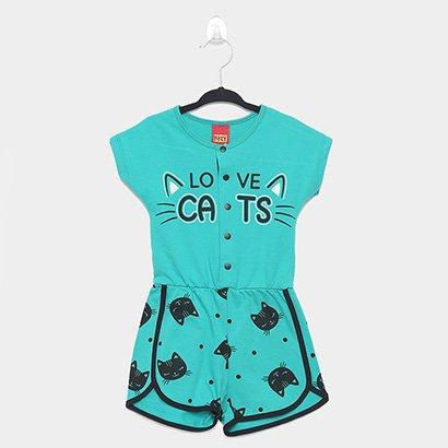 Macacão Infantil Kyly Cat Feminino