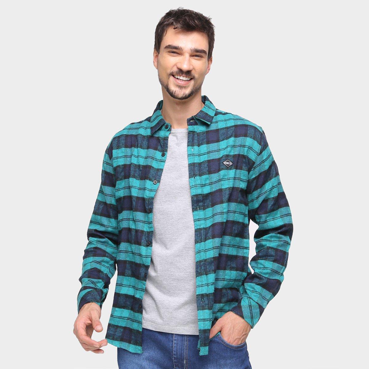 Camisa Xadrez O'neill Flanela Manga Longa Masculina