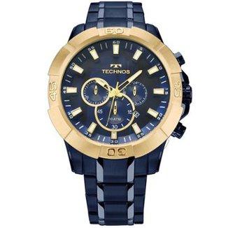 a141e02bfcd Relógio Masculino Technos Legacy JS26AF 4A 52mm Pulseira Aço Azul