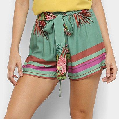 Shorts Mercatto Clochard Floral Feminino