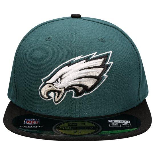 Boné New Era Nfl 5950 Evergreen Philadelphia Eagles Tc - Verde escuro 87e06784813