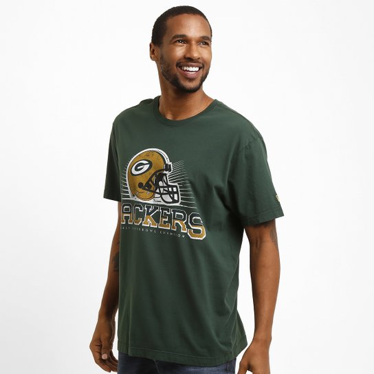 Camiseta New Era Helmet Green Bay Packers - Compre Agora  bb2725588ffbe