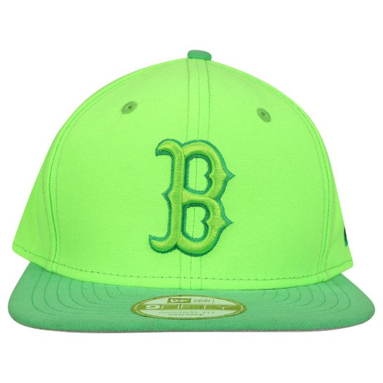 Boné New Era 950 MLB Original Fit Boston Red Sox - Verde Claro+Verde 8ea6aa1b053