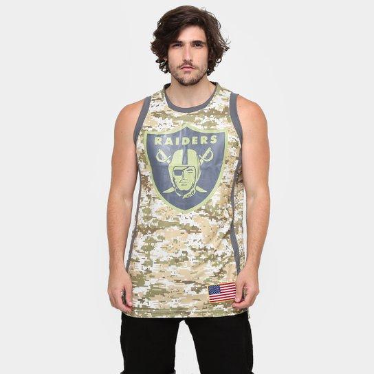Camiseta Regata New Era NFL Digicamo Jersey Oakland Raiders - Compre ... 044e4c87718