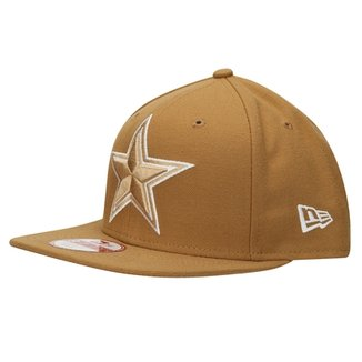 Boné New Era NFL 950 Of Sn White On Wheat Draft Dallas Cowboys b5f62fcda65