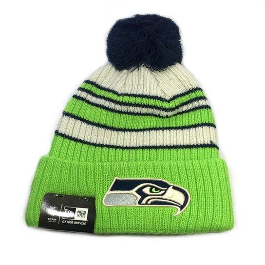 Gorro New Era Touca Seattle Seahawks Tradicional Stripe - Compre ... 6838b773815