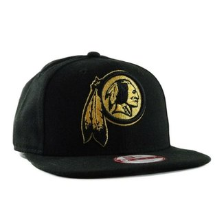 ae49a86d4d655 Boné New Era Gold On RedskinsSnapback
