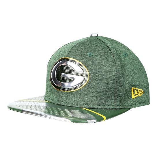 Boné New Era NFL Green Bay Packers Aba Reta 950 Original Fit Sn On Stage  Masculino 6a967b46918