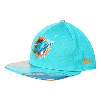 Boné New Era Miami Dolphins Aba Reta 950 Original Fit Sn On Stage Masculino b7883a2595c
