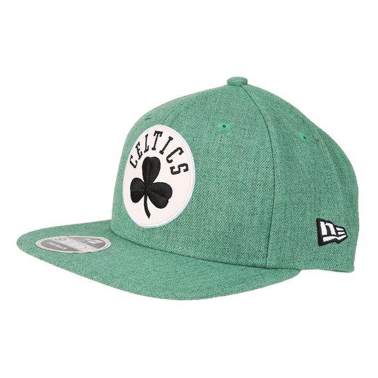 Boné New Era NBA Boston Celtics Aba Reta Washed Denim - Compre Agora ... 2beae63bbd7
