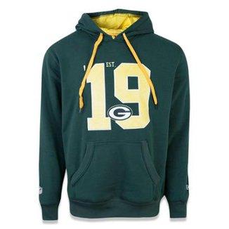 0d87ab45dc Moletom Canguru Fechado Green Bay Packers NFL New Era Masculino