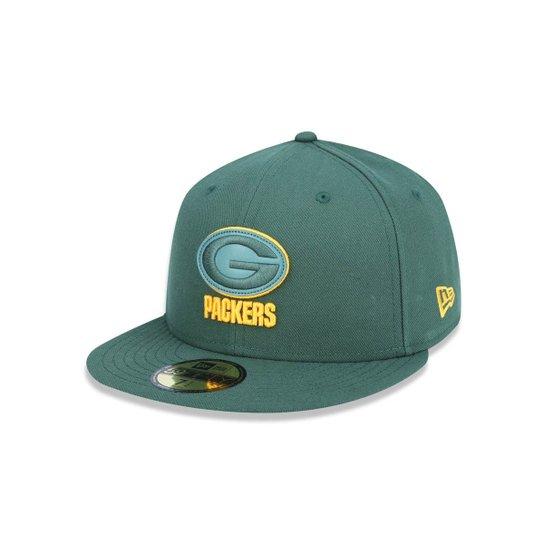 Boné 5950 Green Bay Packers NFL Aba Reta New Era - Verde - Compre ... e39a4f29a15