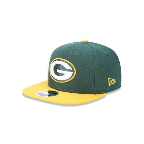 Boné 950 Original Fit Green Bay Packers NFL Aba Reta Snapback New Era -  Verde c74b2a33930
