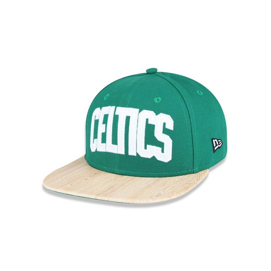 ceb80e7bb8a3b Boné 950 Original Fit Boston Celtics NBA Aba Reta Snapback New Era - Verde