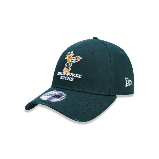 Boné 3930 Milwaukee Bucks NBA Aba Curva New Era - Compre Agora ... 329941a3473