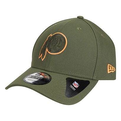 39f0a305a Boné New Era NFL Washington Redskins Aba Curva 940 Hp Military Orange Logo