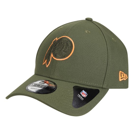 Boné New Era NFL Washington Redskins Aba Curva 940 Hp Military Orange Logo  - Verde 56df8cb9900