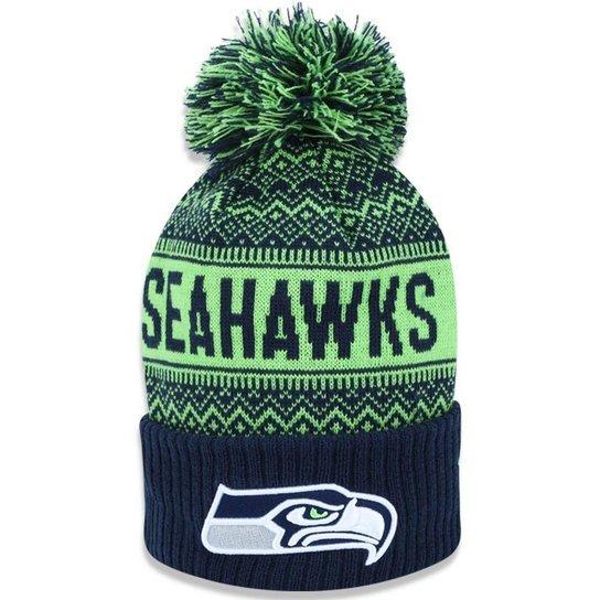 Gorro Touca Seattle Seahawks Wintry Pom New Era - Verde - Compre ... cf13cbab833