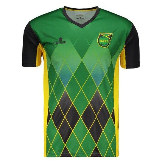 Camisa Romai Jamaica Treino 2016 Masculina - Compre Agora  91662b686e509