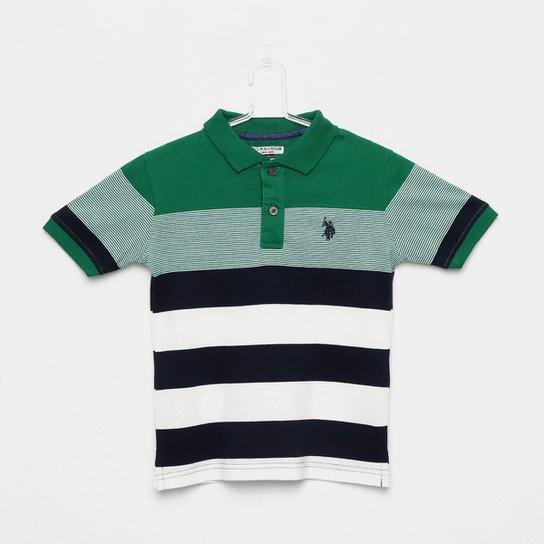Camisa Polo Infantil U.S.POLO Assn Masculina - Verde - Compre Agora ... 230f31cbddbdd