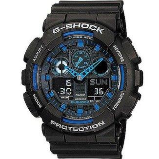 6f0431edb6b Relógio Casio G-Shock GA-100-1A2DR Digital Analógico