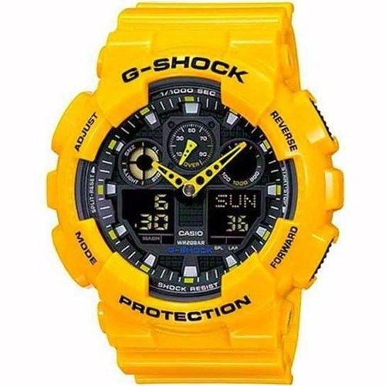636426c7ab0 Relógio Casio G-Shock GA-100A-9ADR Analógico Digital - Compre Agora ...
