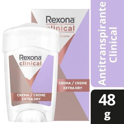 Desodorante Antitranspirante Rexona Clinical Extra Dry Feminino 48g
