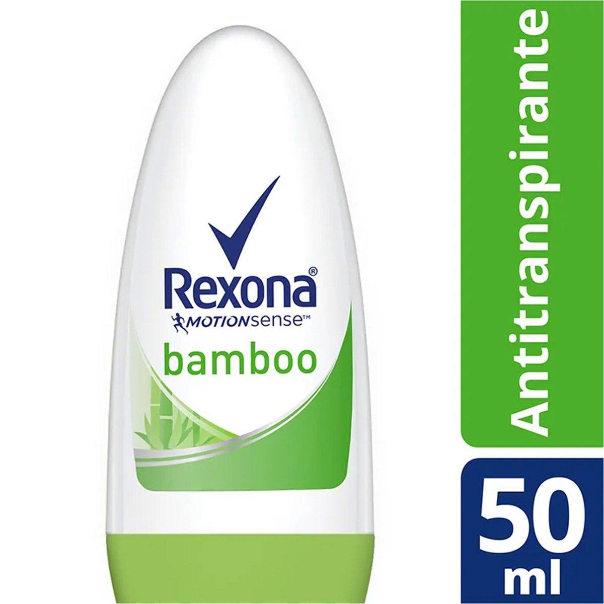 Desodorante Antitranspirante Rexona Bamboo Roll On Feminino 50Ml