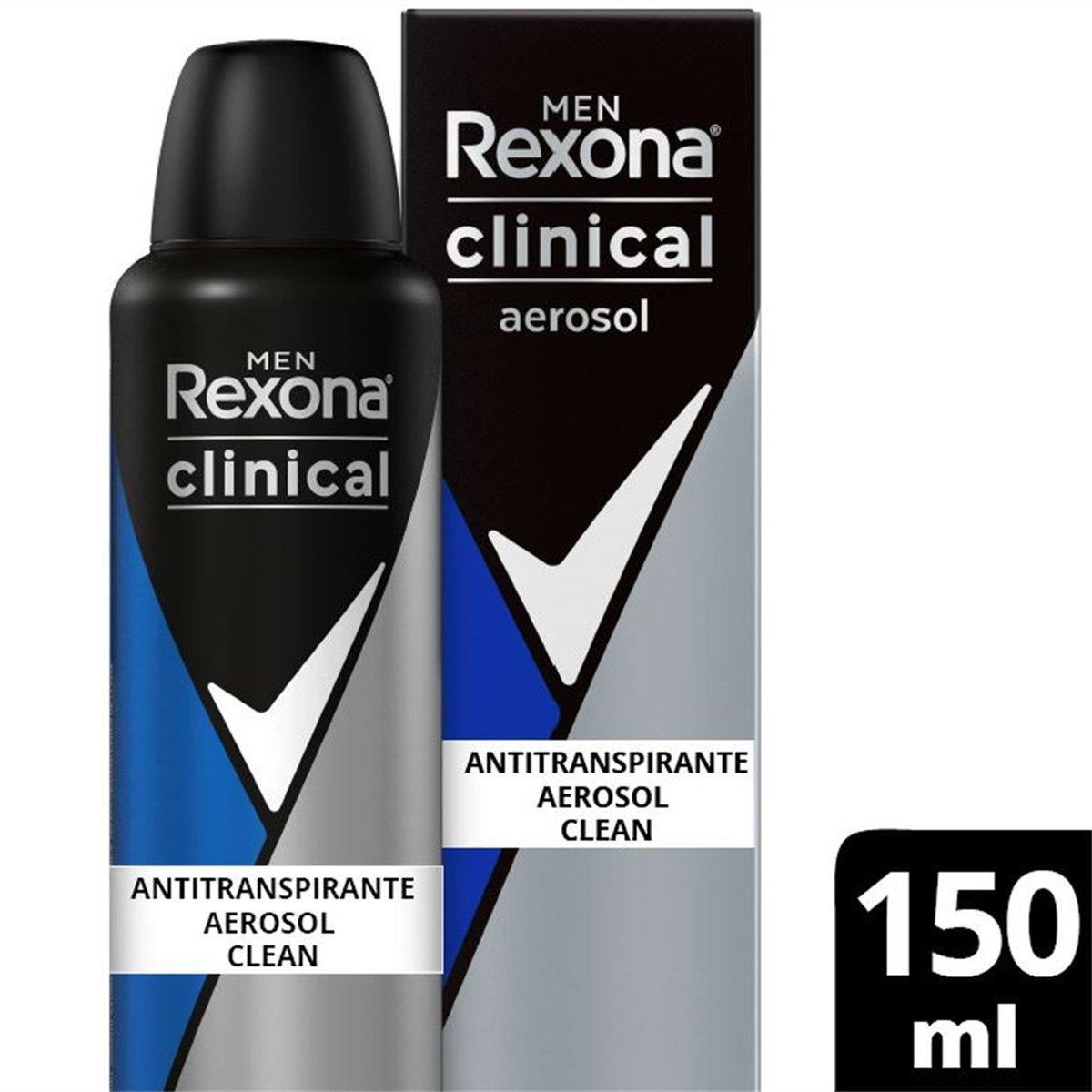 Desodorantes Antitranspirante Rexona Men Aerosol Clean Clinical 150ml