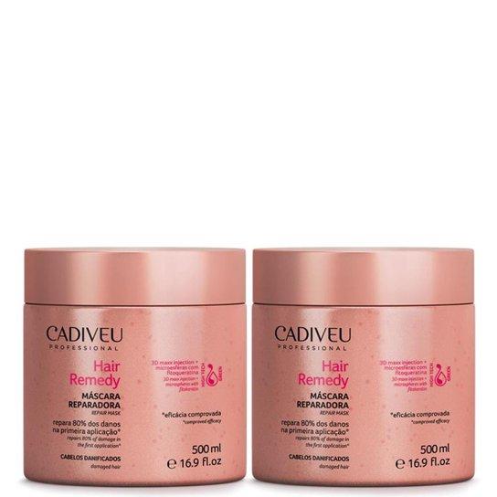 3d7569aba Hair Remedy Cadiveu Máscara Reparadora kit 2x 500ml - Compre Agora ...