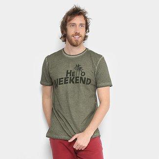 b26ef23d0b294 Camiseta Tigs Gola Careca Lavação Masculina