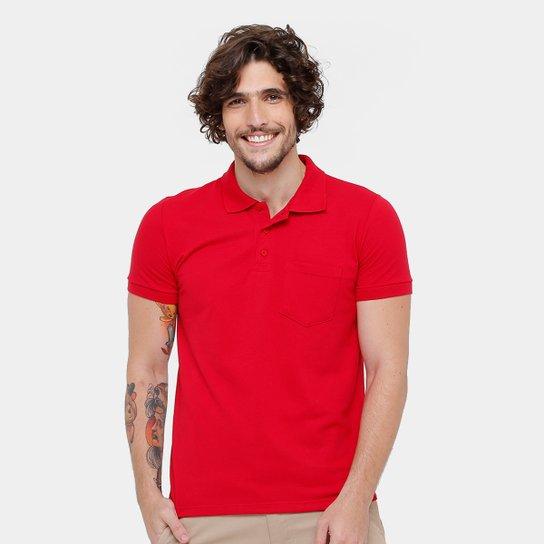 2affeb31d5 Camisa Polo Kohmar Piquet Básica Masculina - Vermelho - Compre Agora ...