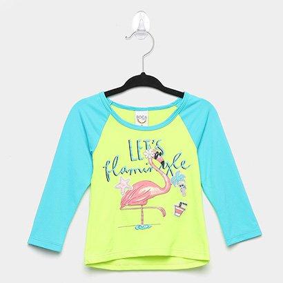 Camiseta Infantil Boca Grande Proteção UV Feminina