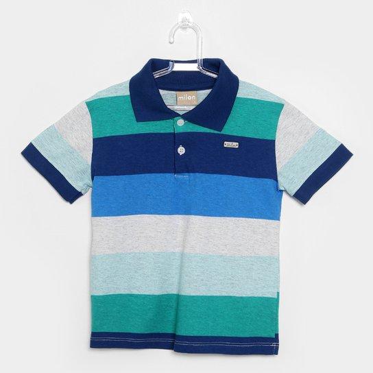 1c31384b4b Camisa Polo Infantil Milon Listrada Masculina - Compre Agora