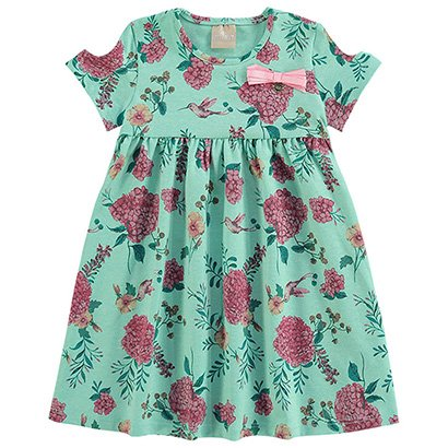 Vestido Infantil Milon Evasê Floral