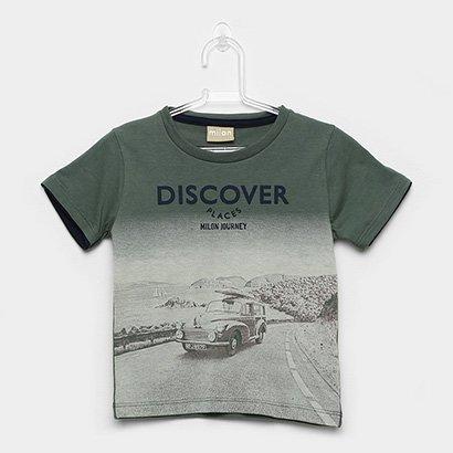 Camiseta Infantil Milon Estampa Urbana Masculina