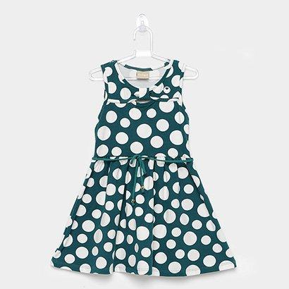Vestido Infantil Milon Cotton Bolas Amarração