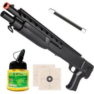 954f692a3 Shotgun ALK M309 Airsoft 6mm Spring 400 FPS + Esfera Plástica 1000 Munições