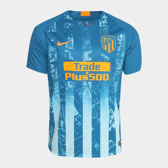 Camisa Atlético Madrid Third 2018 s n° - Torcedor Nike Masculina - Azul  Petróleo 9ce95371b7859