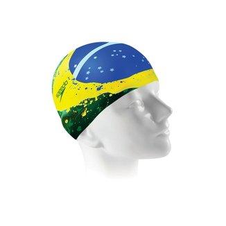 164cdb7f6 Touca para Natação Brazil Flat Cap Colorido Único