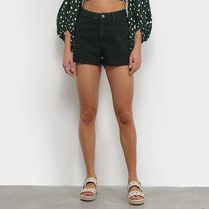 Short Jeans Farm Cintura Alta Color Feminino