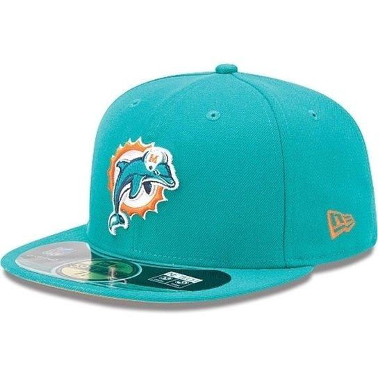 Boné New Era Aba Reta Fechado Nfl Dolphins Game - Verde - Compre ... b8e51f09cfc