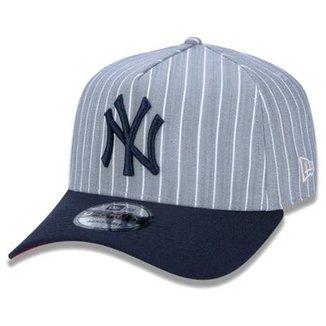 5ad91c6b784d7 Boné New Era Aba Curva Sn Mlb Ny Yankees Af Stripes Aba Curva