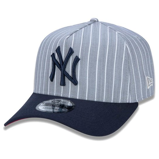 6ea204b46cbb8 Boné New Era Aba Curva Sn Mlb Ny Yankees Af Stripes Aba Curva - Incolor