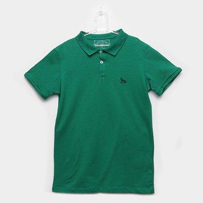 Camisa Polo Infantil Acostamento Detalhe Bordado Masculina