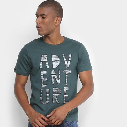 Camiseta All Free Malha Estampada em Gel Adventure Masculina