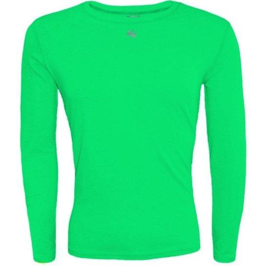 Camisa Térmica Infantil Fator Proteção Solar Uv50 5875 - Verde ... 81ed45cf57d35