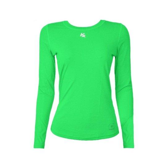 Camisa Térmica Kanxa Baby Look Com Proteção Bactericida E Fator Proteção  Solar Uv50 5884 - Verde c7b8b7ad44c76